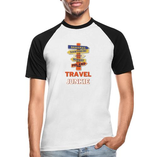 traveljunkie - i like to travel - Männer Baseball-T-Shirt