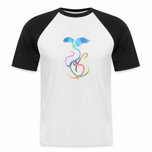 Gracieux - Oiseau arc-en-ciel à l'encre - T-shirt baseball manches courtes Homme
