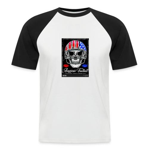 hodeskalle - Kortermet baseball skjorte for menn