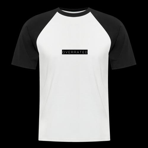 Overrated Black white - Mannen baseballshirt korte mouw
