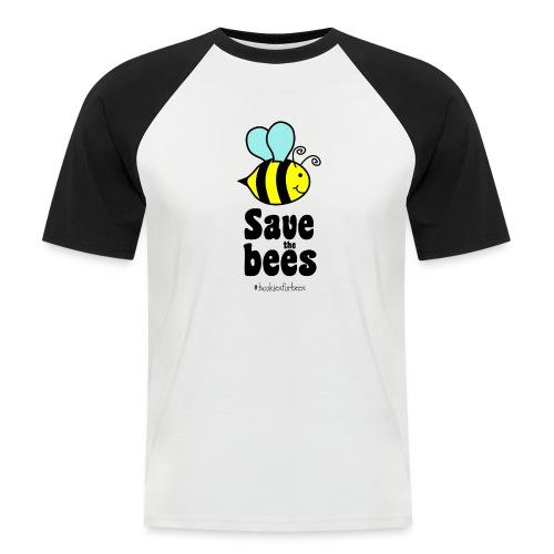 Bees9-1 save the bees   Bienen Blumen Schützen - Men's Baseball T-Shirt