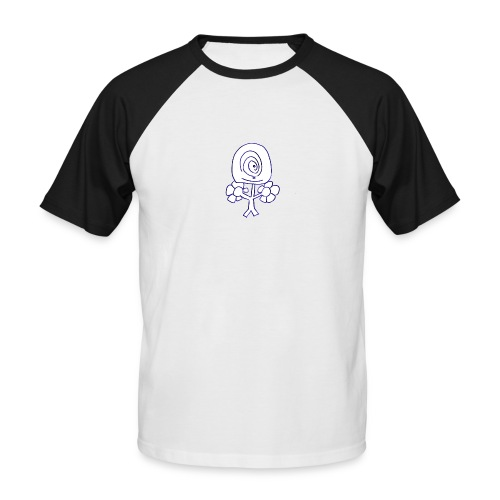 Poppetje 1 oog - Mannen baseballshirt korte mouw