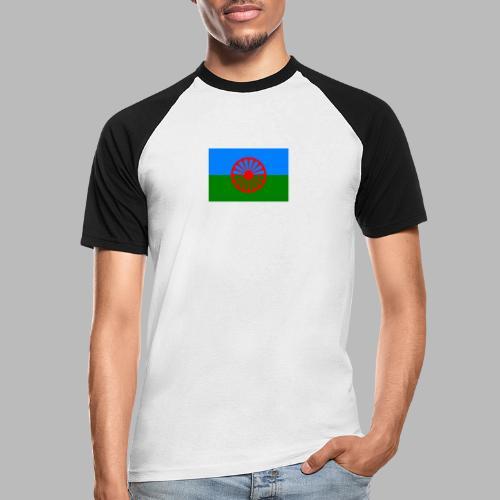 Romska flaggan 720x480 1 - Kortärmad basebolltröja herr
