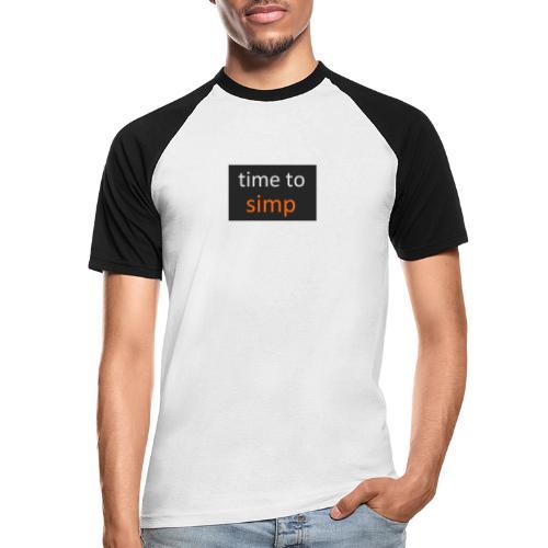simping time - Mannen baseballshirt korte mouw