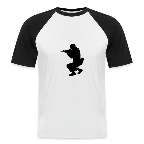 ist2 724967 soldier silhouette - Männer Baseball-T-Shirt