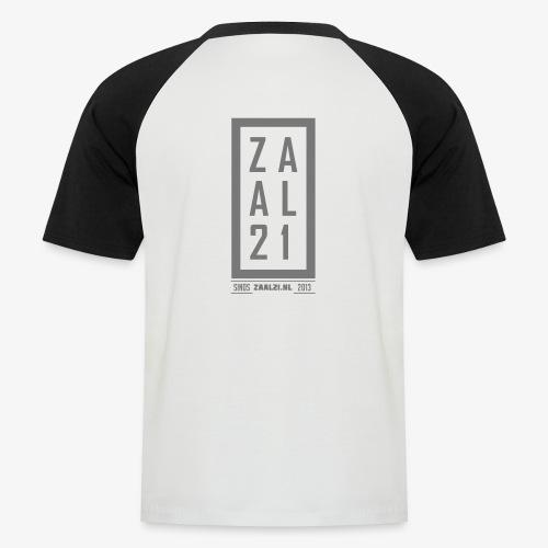 T-SHIRT-BLOK - Mannen baseballshirt korte mouw