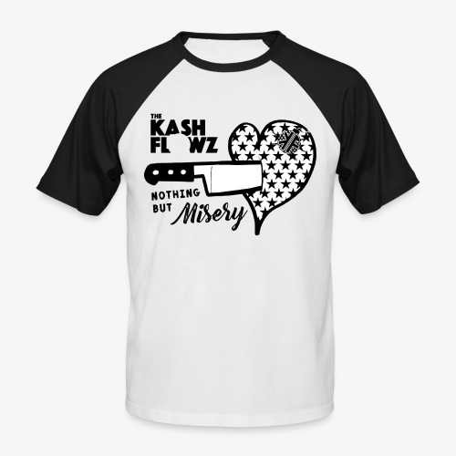 Nothing But Misery Knife Heart Black - T-shirt baseball manches courtes Homme
