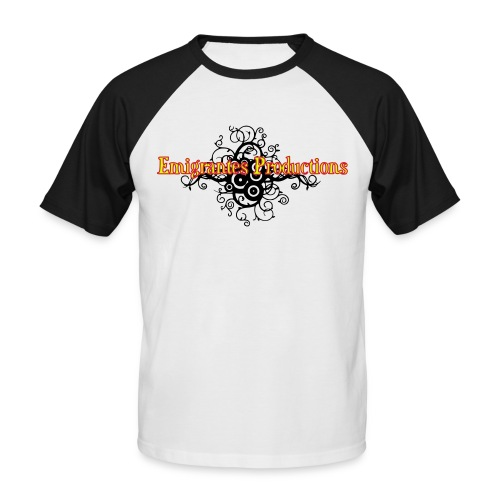 Emigrantes Productions logo SVG 3 couleurs - T-shirt baseball manches courtes Homme