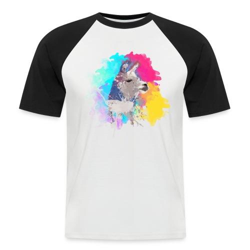 Colorful Llama - Kortærmet herre-baseballshirt
