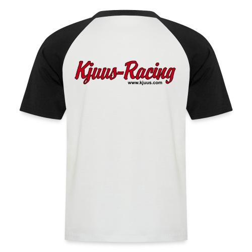 Kjuus Racing & Motorsykkelpodden - Kortermet baseball skjorte for menn