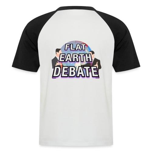 Flat Earth Debate Solid - Men's Baseball T-Shirt