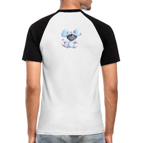 Maskenmaus - Männer Baseball-T-Shirt