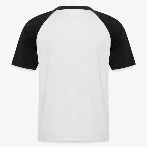 Subtiel_Wit - Mannen baseballshirt korte mouw