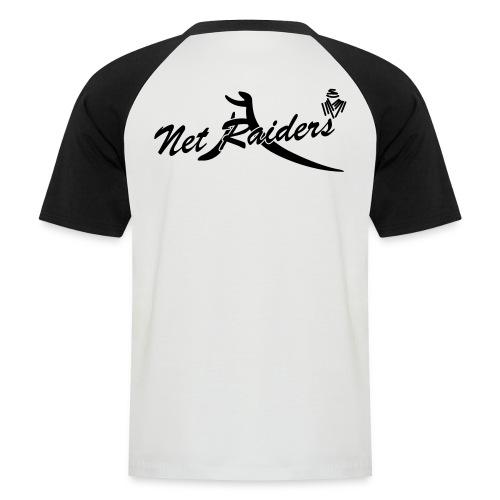 Logo Netraides Colori BIG - Maglia da baseball a manica corta da uomo