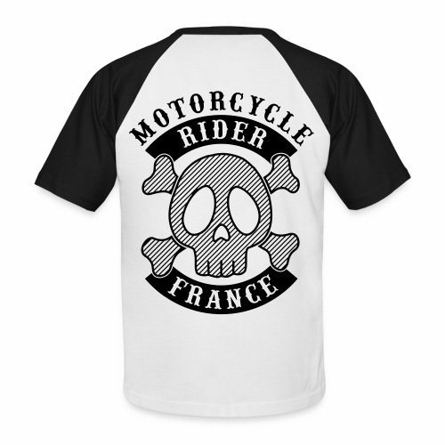 Motorcycle Rider France - T-shirt baseball manches courtes Homme