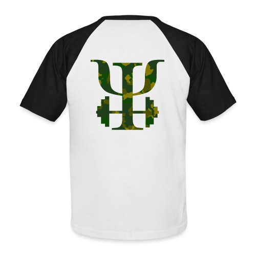 Logo Camo - Men's Baseball T-Shirt