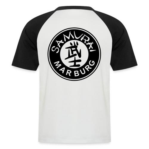 Logo schwarz auf weiß - Männer Baseball-T-Shirt