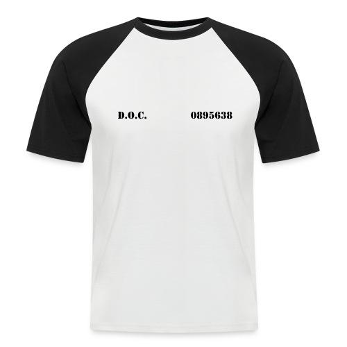 Department of Corrections (D.O.C.) 2 front - Männer Baseball-T-Shirt