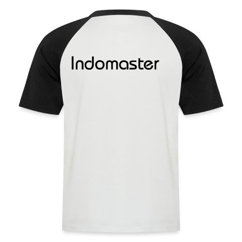 indomaster letters black - Men's Baseball T-Shirt