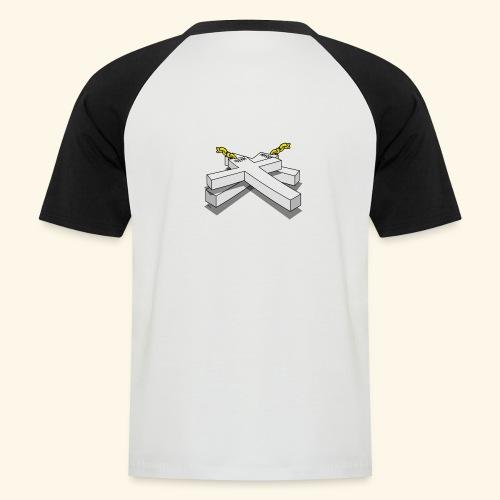 Gold Crosses - Maglia da baseball a manica corta da uomo