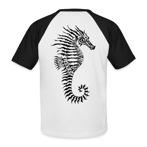 Alien Seahorse Invasion - Men's Baseball T-Shirt