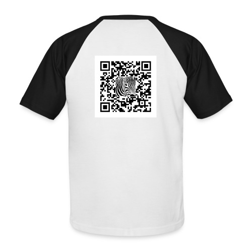 QR Code Een sjans dat - Mannen baseballshirt korte mouw