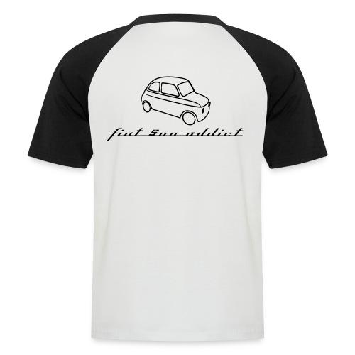 addictblanc - T-shirt baseball manches courtes Homme