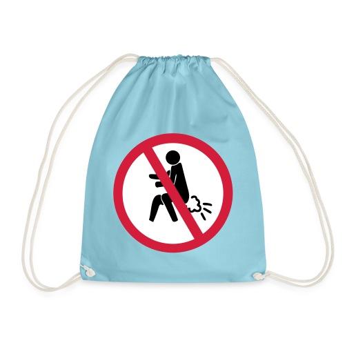 NO Farting Sign - Drawstring Bag