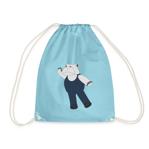 Hippo Ballet Dancer - Drawstring Bag