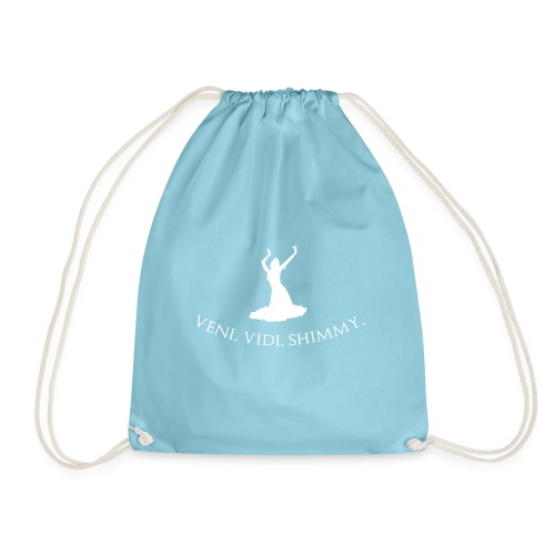 Veni Vidi Shimmy White - Drawstring Bag