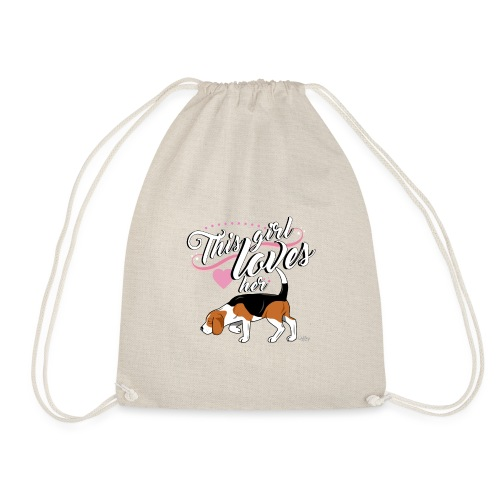 beaglegirl - Drawstring Bag