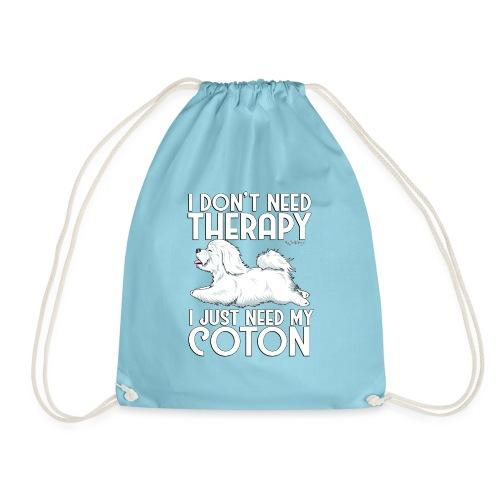 Coton De Tuléar Therapy03 - Drawstring Bag