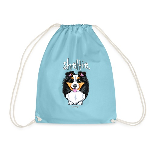 Sheltie Dog Cute 6 - Drawstring Bag