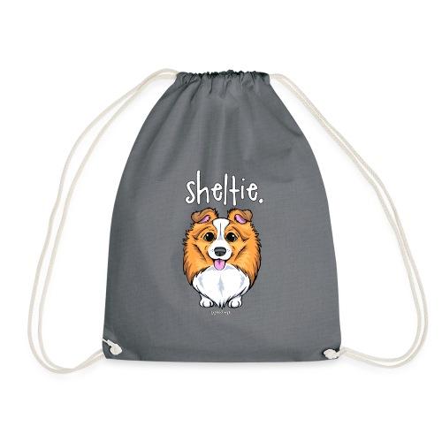 Sheltie Dog Cute 5 - Drawstring Bag