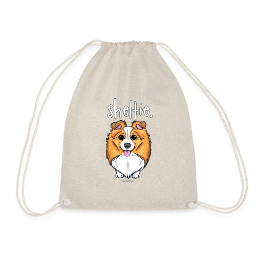 Sheltie Dog Cute 5 - Drawstring Bag