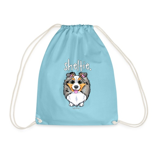 Sheltie Dog Cute 4 - Drawstring Bag