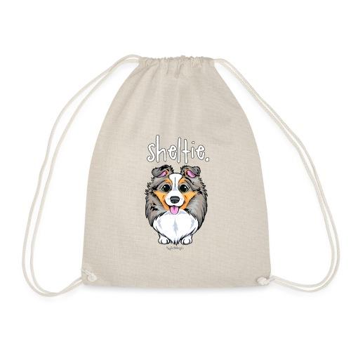 Sheltie Dog Cute 4 - Drawstring Bag