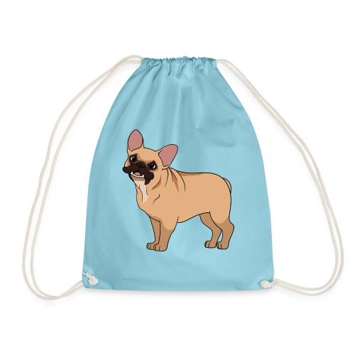 Friendly French Bulldog - Drawstring Bag