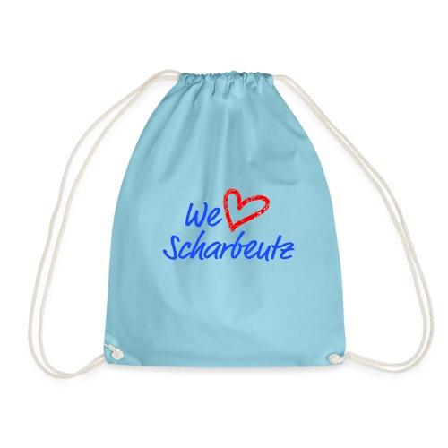 We love Scharbeutz - Logo blau/rot - Turnbeutel