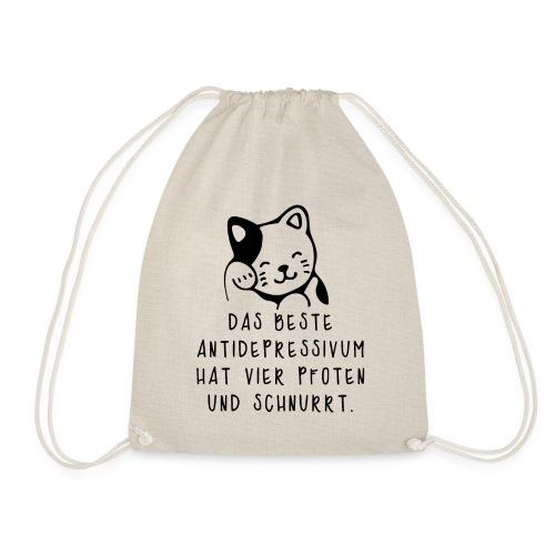 Katzen sind das beste Antidepressivum - Turnbeutel