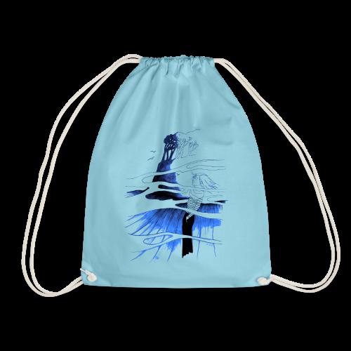 Ein Ort (blau) - Turnbeutel