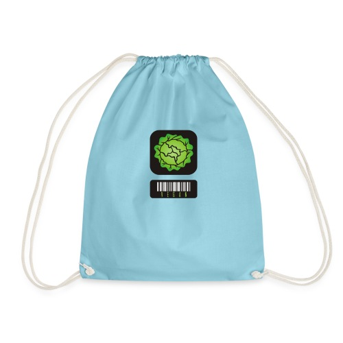 Vegan Barcode - Drawstring Bag