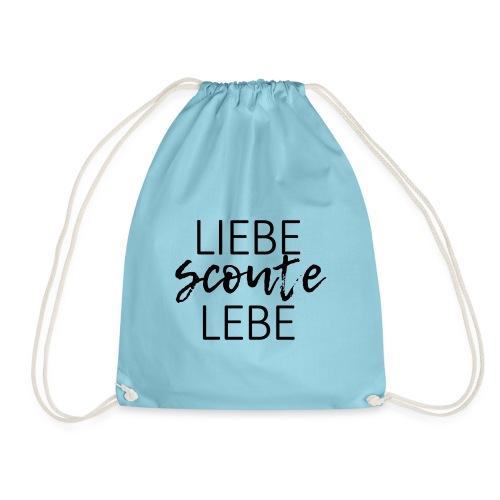 Liebe Scoute Lebe Lettering - Farbe frei wählbar - Turnbeutel