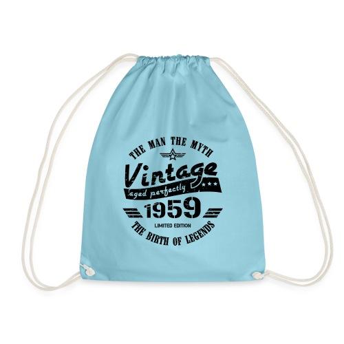 Vintage 1959 60th Birthday - Drawstring Bag