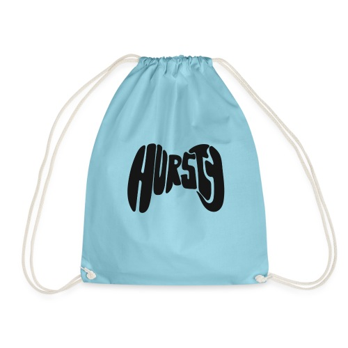 Hursty Black - Drawstring Bag