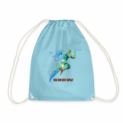 RISE RUN REST REPEAT - TEEEZ MADE - Drawstring Bag