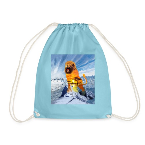 lion and the elements - Drawstring Bag