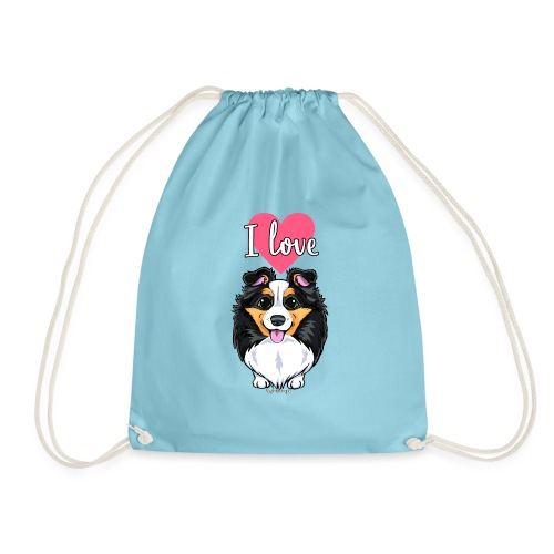 Sheltie Dog Love - Drawstring Bag