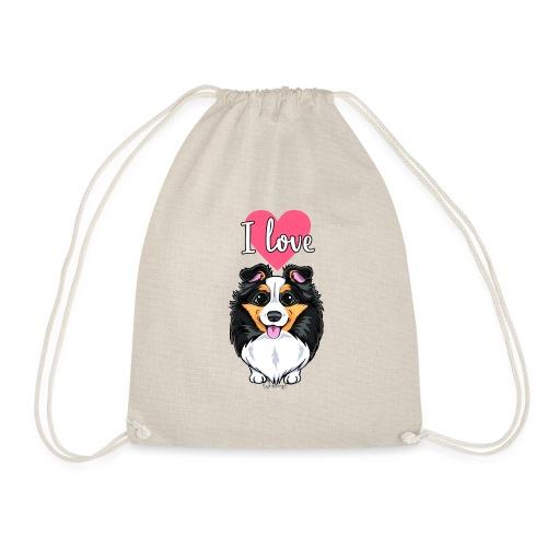 Sheltie Dog Love - Drawstring Bag