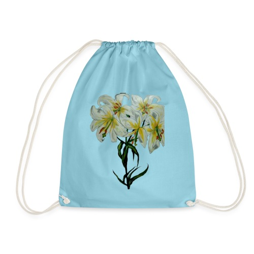 Lily painting - Drawstring Bag